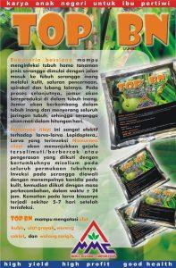 TOP BN merupakan pestisida biologi yang mengandung spora: Nomuraea rileyi, Beauveria bassiana