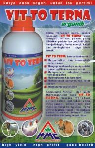 VIT TO TERNA adalah suplemen untuk ternak yang terbuat dari bahan yang berkua </p><br /> <div class=