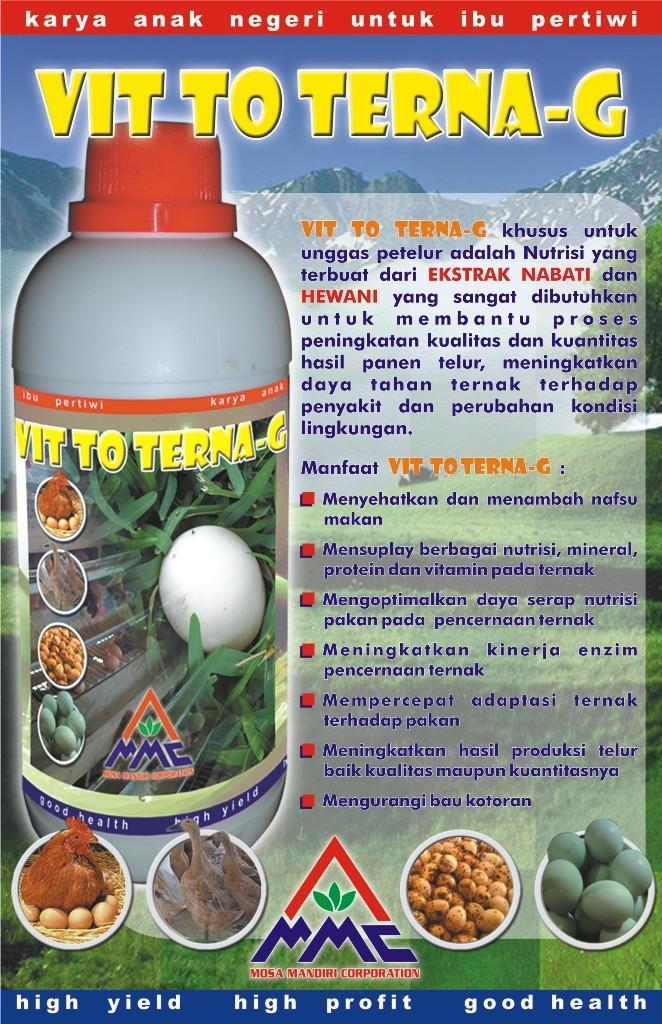 VIT TO TERNA - G - suplemen organik bagi unggas petelur