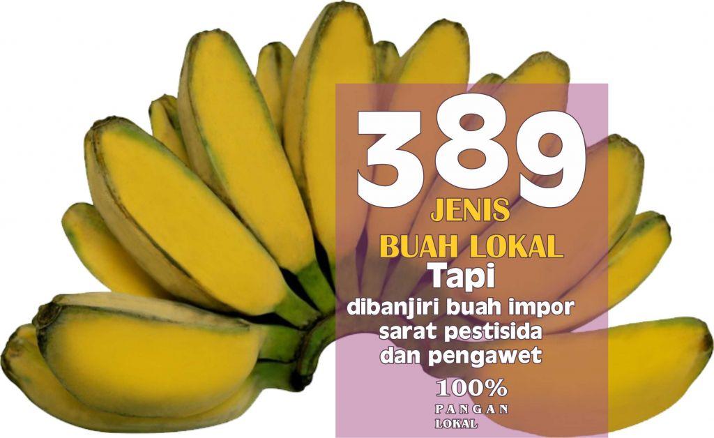 pisang - buah lokal asli indonesia